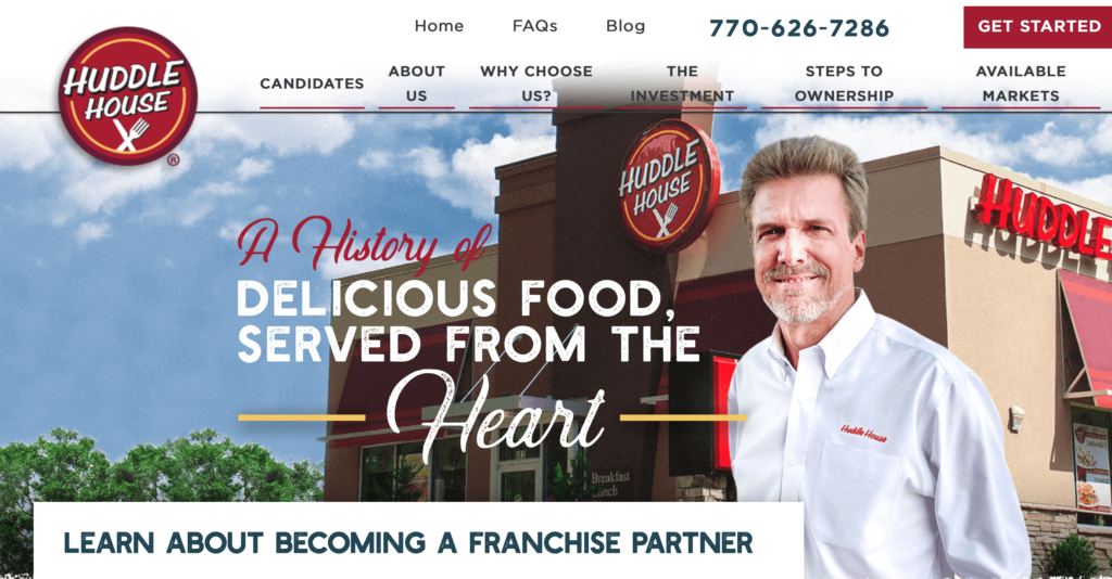 Huddlehouse Franchising Website